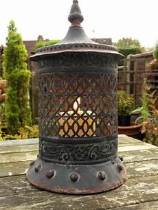 vintage style moroccan large garden lantern candle holder tea light new ebay