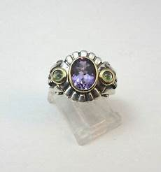 sterling silver thailand amethyst stone w 14k gold accents ring marked nf ebay