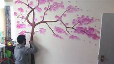 Tree Mural Painting Living Room Wall Decor