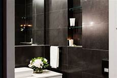 bathroom tile exles this luxurious powder room from the block threat