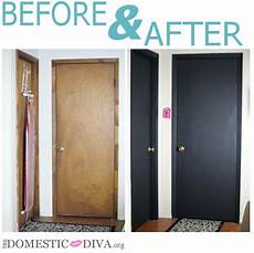 the domestic 187 paint an interior door with chalkboard paint for a home office bathroom