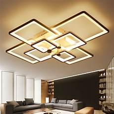 new square rings designer modern led ceiling lights l