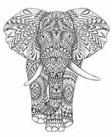 Malvorlage Erwachsene Elefant Pin Auf Hoops