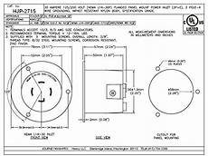 journeyman pro 2715 nema l14 30 flanged inlet generator plug 30a 125 250 volt locking