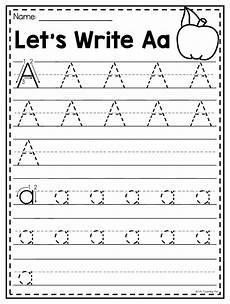 alphabet tracing worksheets letter a 23845 mega alphabet worksheet pack pre k kindergarten distance learning with images alphabet