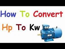Motor Kw Hp Formula Conversion Wallpaperzen Org