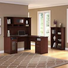 bush home office furniture amazon com bush furniture cabot hutch in harvest cherry