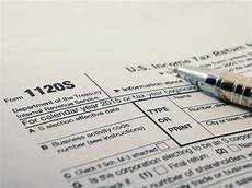 up shot of united states internal revenue service irs tax return form 1120s for small