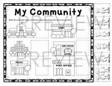 places in community worksheets 15955 places in the community where our community helpers go to work worksheet