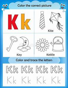 letter k preschool worksheets 24403 alphabet learning and color letter k stock illustration illustration of activity alphabet