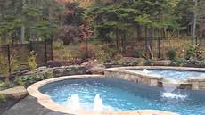 fibreglass pool with tanning ledge youtube