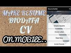 how to make resume your android mobile youtube