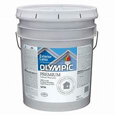 olympic white satin latex exterior paint actual net