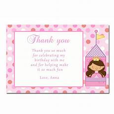 thank you card template baby birthday printable princess thank you cards notes birthday