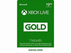 xbox live 1 month gold membership digital code newegg