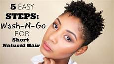 5 easy steps how to wash go for short natural hair