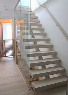 Treppe Mit Glaswand - open riser staircase with glass wall stairs interior