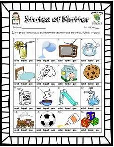 free solid liquid gas phases of matter worksheet tpt