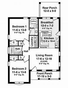 1100 square foot house plans cottage style house plan 2 beds 2 baths 1100 sq ft plan