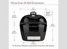 Primo Oval Junior 200 Grill & Smoker   Primo Grills