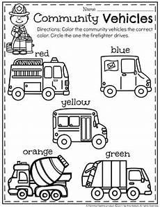 vehicles worksheet for preschool 15244 community helpers preschool theme planning playtime
