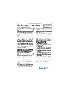 vaccine information statement meningococcal vis cdc