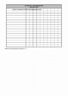 top 5 meeting attendance sheets free to download in pdf format