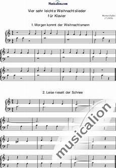 sehr leichte weihnachtslieder 4 f 252 r klavier werner