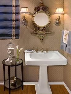 bathroom sink decorating ideas powder room with stunning pedestal sink and ornate mirror hgtv