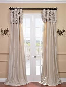 Silk Drapery Panels by Savings On Ruched Faux Silk Taffeta Curtain And Drapes