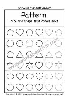 shapes pattern worksheets kindergarten 1167 pattern more preschool worksheets size same or different pattern recognition worksheets