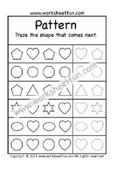 shapes patterns worksheets kindergarten 146 pattern more preschool worksheets size same or different pattern recognition worksheets