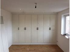 Fully functional IKEA fitted wardrobe for sloping ceiling