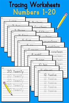 number tracing worksheets 1 20 supplyme