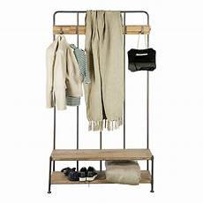 porte manteau entrée vestiaire meuble d 180 entr 233 e vestiaire porte manteau en m 233 tal et bois