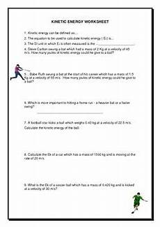 kinetic potential energy worksheet by jag education tpt