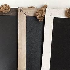 pfannen aufhängen küche kreidetafel vierkant 3 farben shabby holzdeko wandbild
