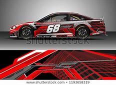 Car Wrap Design Vector Graphic Abstract Arkivert Vektor
