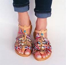 Sandale Femme Pompon Boho Chic Sandalen Sugarberry Cm Elizabethshoes Auf