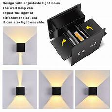 12w led wall lights outdoor indoor sconce l up down adjustable dimmable ip65 ebay