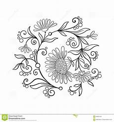 outline vintage flowers bouquet or pattern stock vector illustration of antique coloring