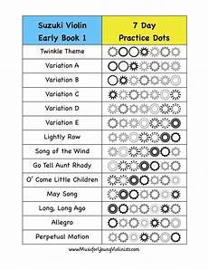 Suzuki Violin Book 1 Songs by Suzuki Violin Early Book 1 Practice Chart Happy