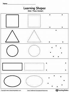 drawing shapes worksheets 1081 learning basic shapes color trace and connect tracing worksheets evde eğitim ve okul