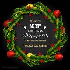 wishing you merry christmas 2018 to you and your family wishes greeting card