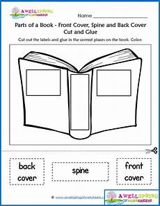 parts of a book worksheets vocabulary cards kindergarten language arts kindergarten
