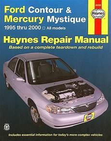 free car manuals to download 1995 mercury mystique lane departure warning ford contour mercury mystique repair manual 1995 2000 haynes