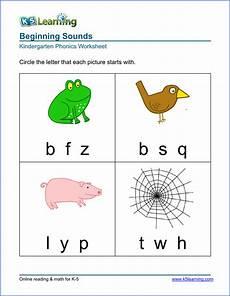 free preschool kindergarten phonics worksheets printable k5 learning
