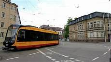 Trams Stadtbahn In Karlsruhe Poststr Ettlinger Str