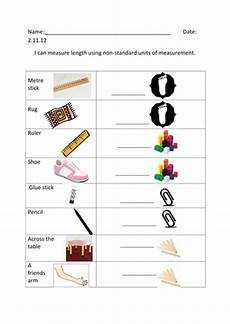 non standard measurement worksheets grade 2 1732 measuring using non standard units of measurement by nicolalucas teaching resources tes