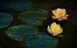 Download Paintings Flowers Wallpaper 1440x900  Wallpoper